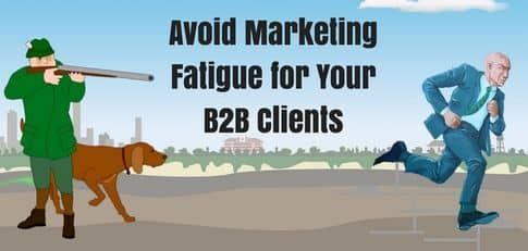 Blog header image for How to avoid marketing fatigue for email, cold calling and content
