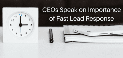 Blog header image for Lucep Survey – CEOs and Sales Managers on The Importance of Fast Lead Response