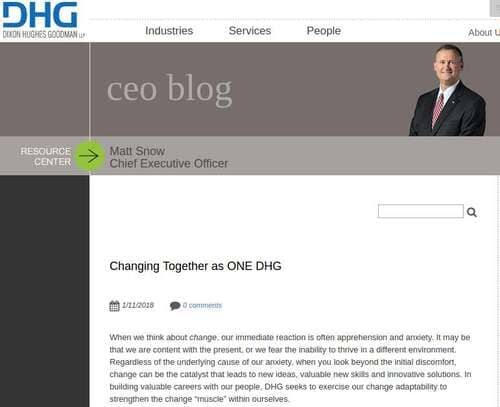 Blog header image for 7 CEO Blog Themes from Letters to Lethal Generosity