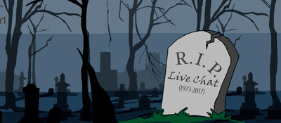 Blog header image for Is Live Chat Dead?
