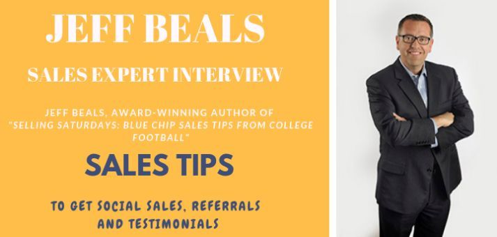 Blog header image for Interview With Sales Expert Jeff Beals on Social Proof, Referrals and Testimonials