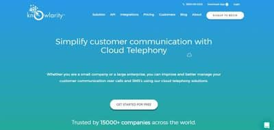 Blog header image for Knowlarity Cloud Telephony Review
