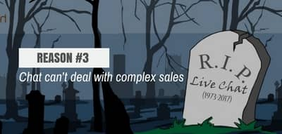 Blog header image for Live Chat is Dead – Reason #3