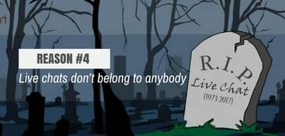 Blog header image for Live Chat is Dead – Reason #4