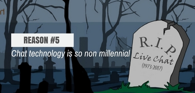 Blog header image for Live Chat is Dead – Reason #5