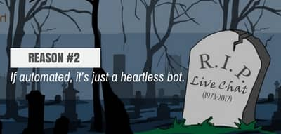 Blog header image for Live Chat is Dead – Reason #2