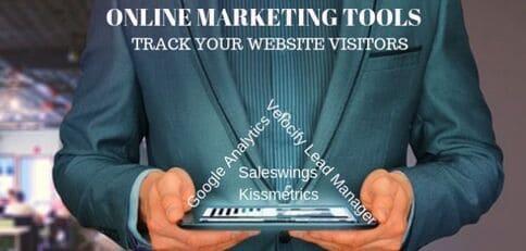 Blog header image for Online Marketing Tools to Track Website Leads
