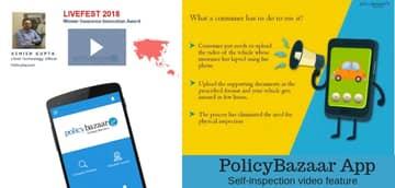 Blog header image for PolicyBazaar app innovation highlights digital transformation