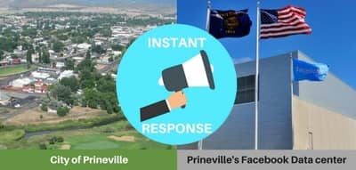 Blog header image for How Instant Response to Facebook Drives Prineville Economic Development