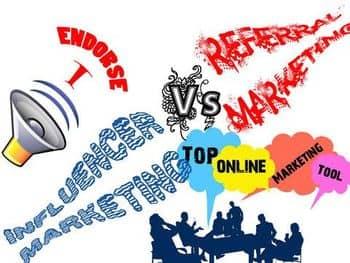 Blog header image for Referrals vs Influencer Marketing