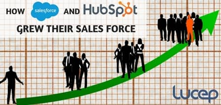 Blog header image for How Salesforce and Hubspot Grew Their Sales Force