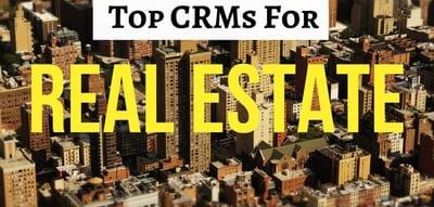 Blog header image for Top 5 Dedicated Real Estate CRM Solutions