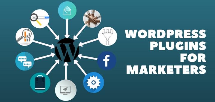 Blog header image for WordPress plugins for marketers