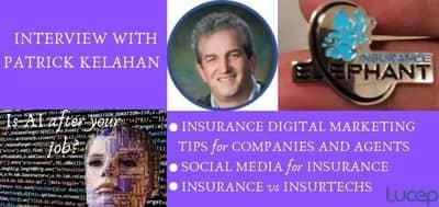 Blog header image for Patrick Kelahan on AI, Insurance digital marketing and Insurtechs