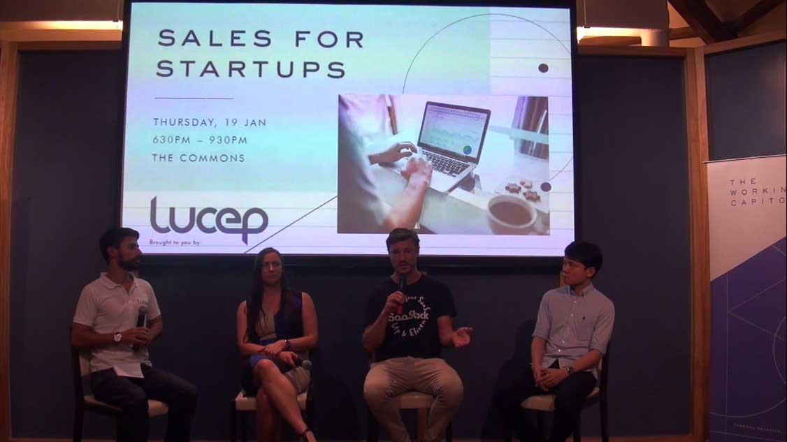 Lucep startup sales tips event video