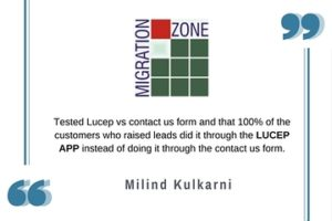 Migration Zone Lucep sales testimonial