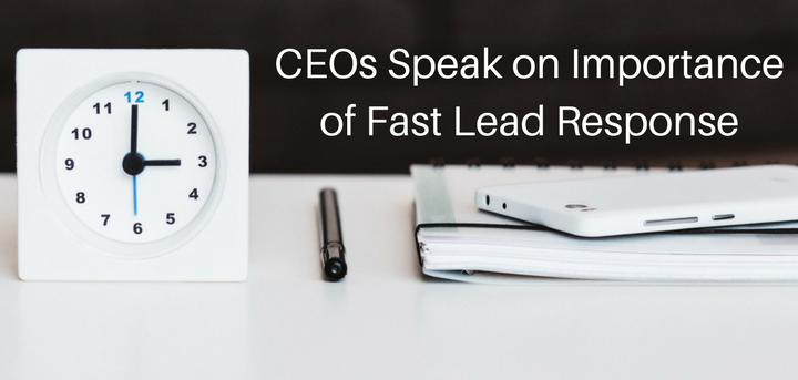 CEO Speak on fast lead response