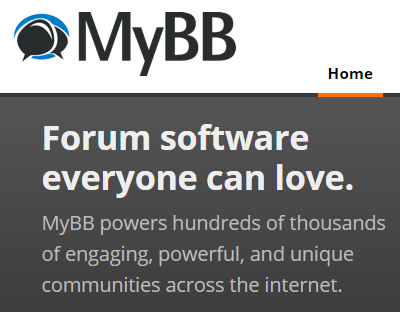 MyBB open source customer support forum software