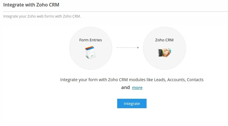 Zoho Forms CRM integration