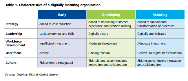 govt digital transformation mature orgs