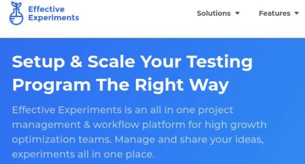 Effective Experiments CRO platform