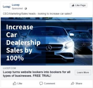 lucep automotive dealers ad